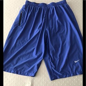 Nike Men's dri fit shorts with liner in Medium
